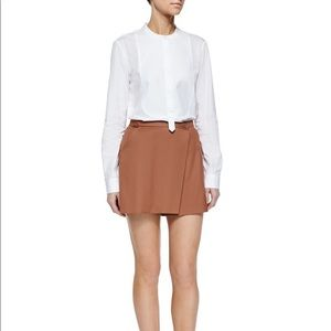 Theory 100% wool wrap nude skirt 0